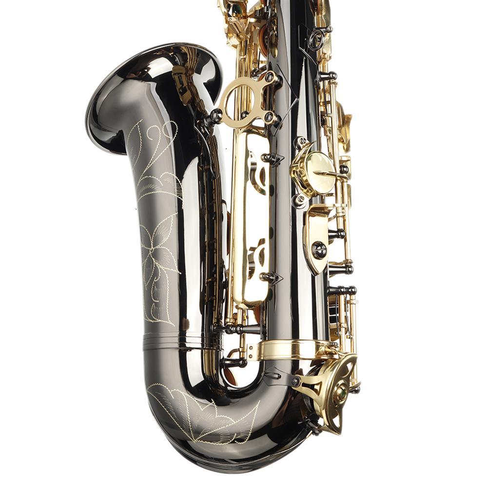 saxophone MY S0198 Black Nickel Plated Gold Key Alto E Flat Brass Alto Saxophone White Shell Clasp HOB1783985 3