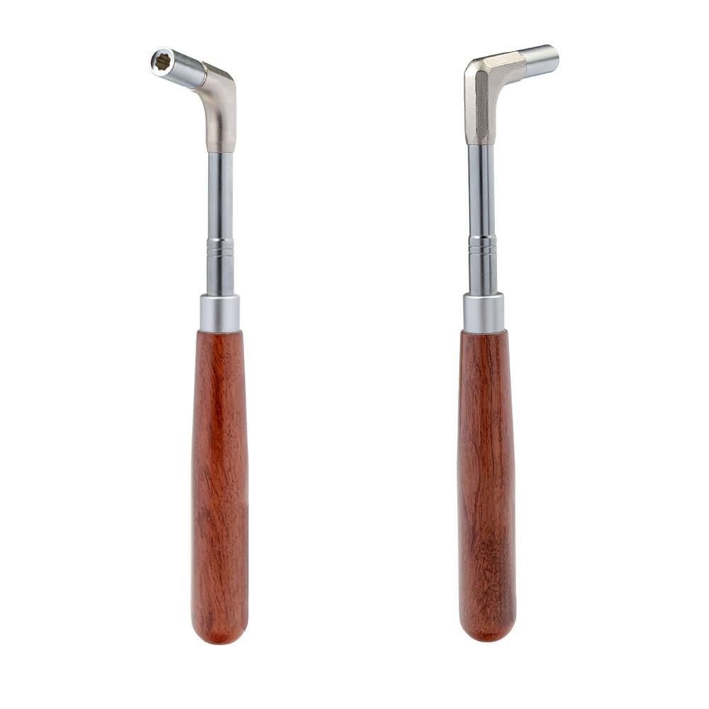 strings-accessories NAOMI Piano Tuning Wrench Mahogany Handle Straight Rod Octagonal Core Piano Tuner Tool HOB1784094 1