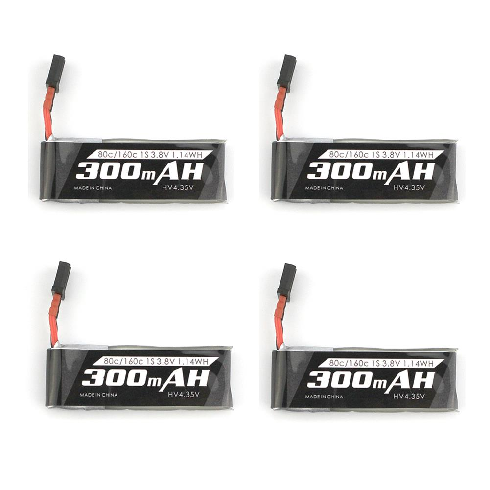 multi-rotor-parts 4 PCS Emax Nanohawk Spare Part 1S 4.35HV 300mAh 80C Lipo Battery GNB27 Plug Connector for Tiny Whoop RC FPV Racing Drone HOB1784099