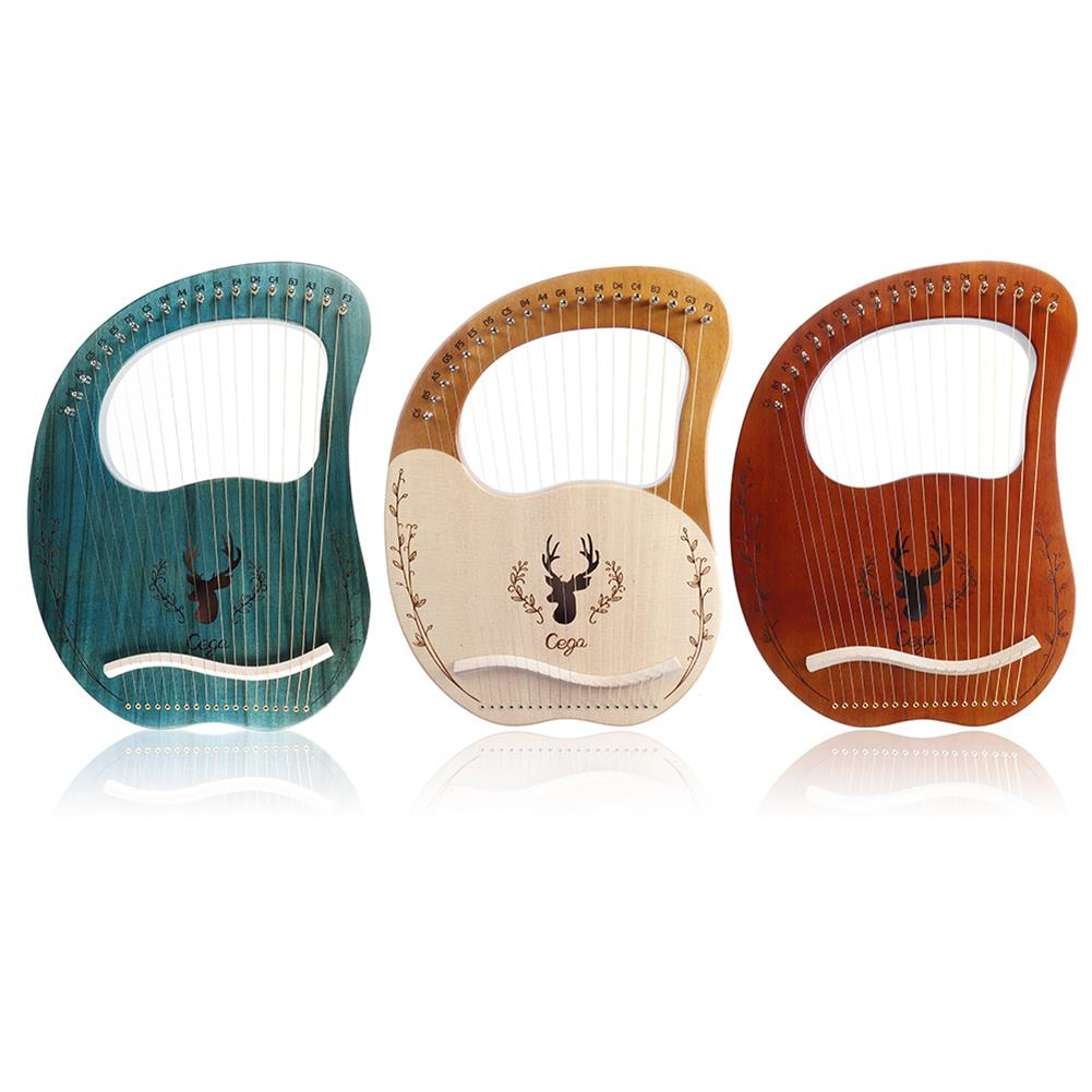 lyre Cega 19 Tone Lyar Portable Mahogany Harp HOB1784228