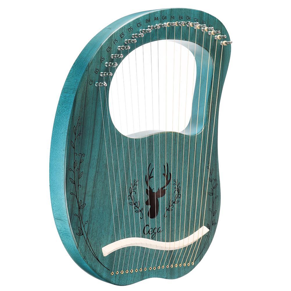 lyre Cega 19 Tone Lyar Portable Mahogany Harp HOB1784228 2