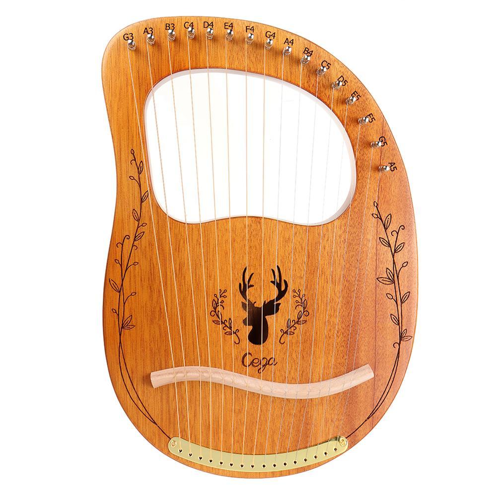 lyre CEGA 16 Tone Lyar Portable Mahogany Harp HOB1784280
