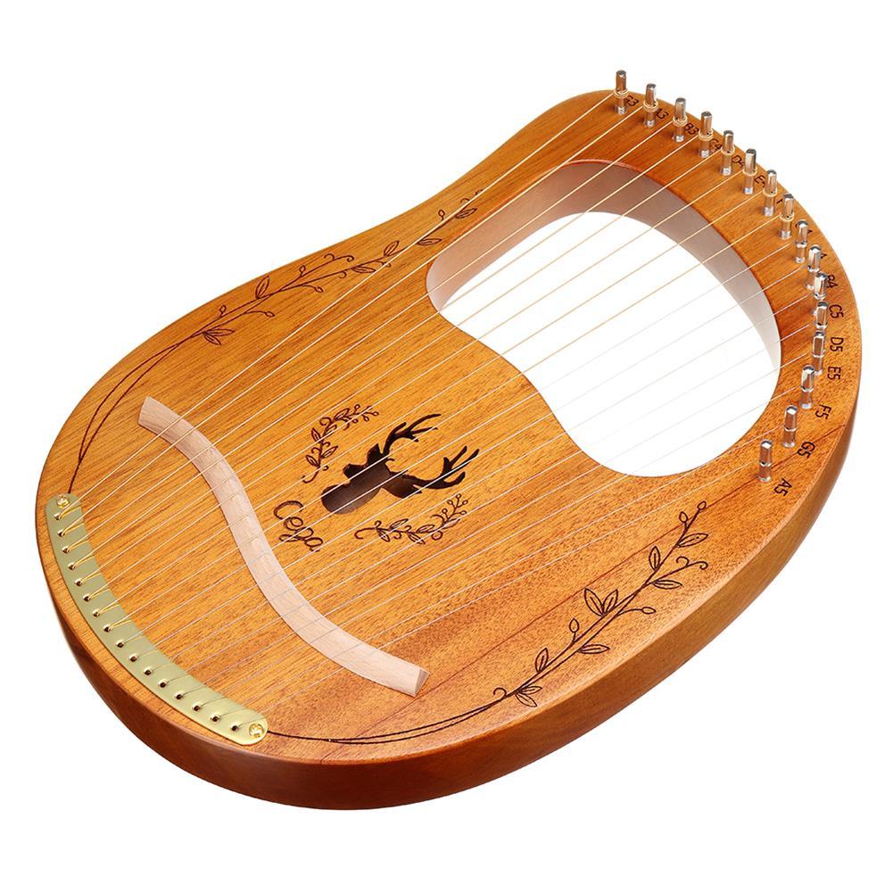 lyre CEGA 16 Tone Lyar Portable Mahogany Harp HOB1784280 1