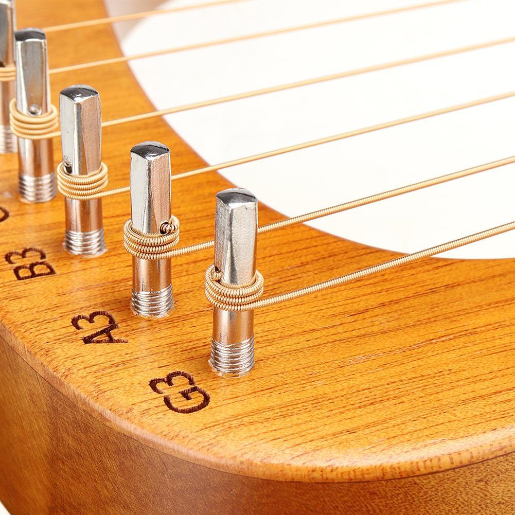 lyre CEGA 16 Tone Lyar Portable Mahogany Harp HOB1784280 3
