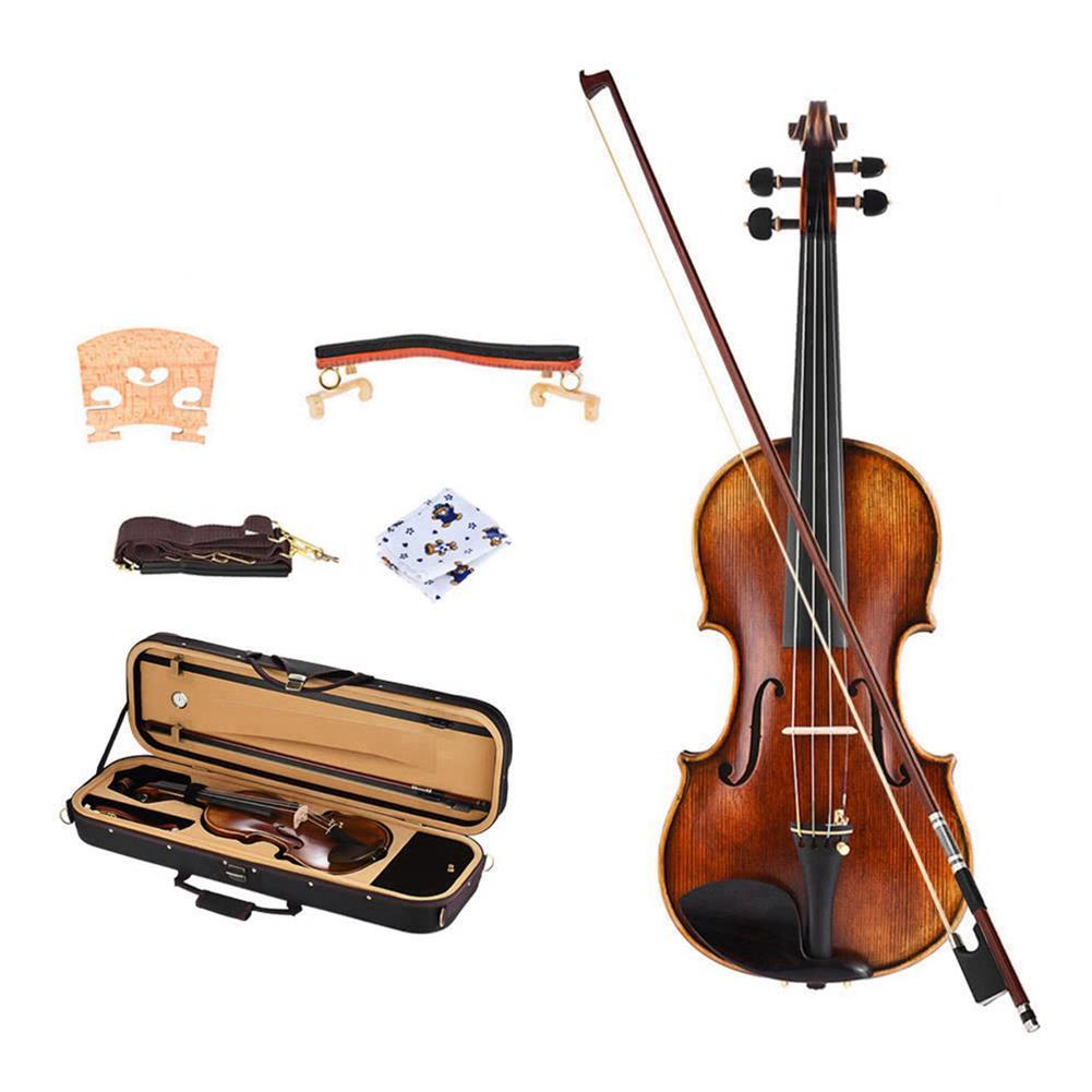 violin NAOMI 4/4 Full Size Violin with Jujube Accessories Square Violin Case HOB1784337