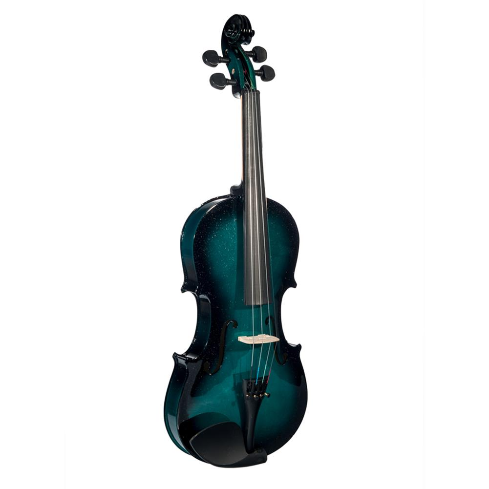violin NAOMI 1/8 blue Black Gradient Solid Wood Violin with Violin Bag HOB1784338 1