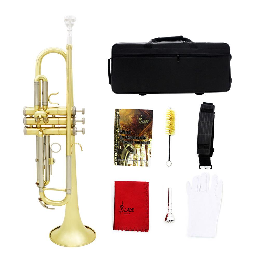trumpet Slade Brass B Flat White Copper Diaphonic Tube Gold and Silver 2 Color Trumpet HOB1784363