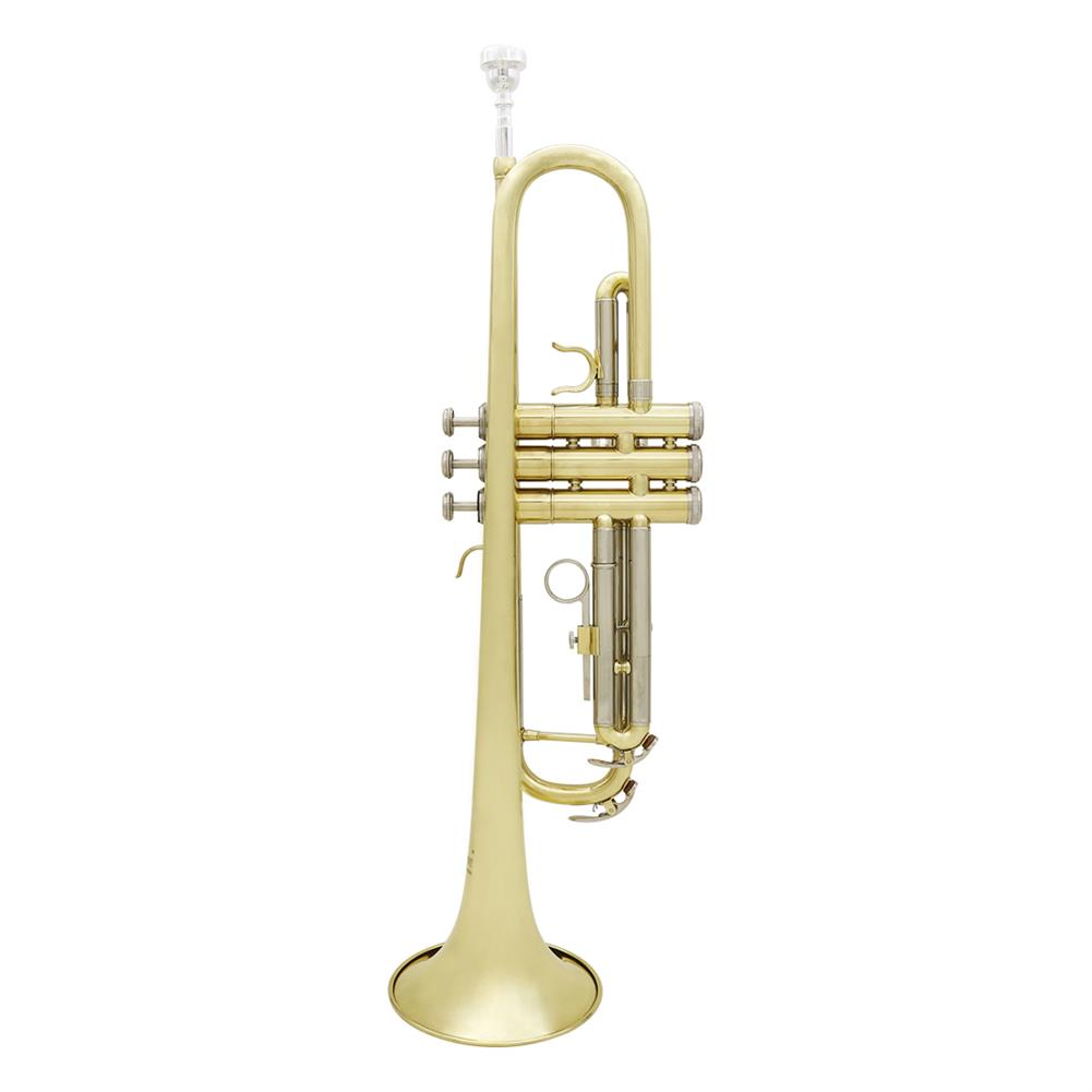 trumpet Slade Brass B Flat White Copper Diaphonic Tube Gold and Silver 2 Color Trumpet HOB1784363 1