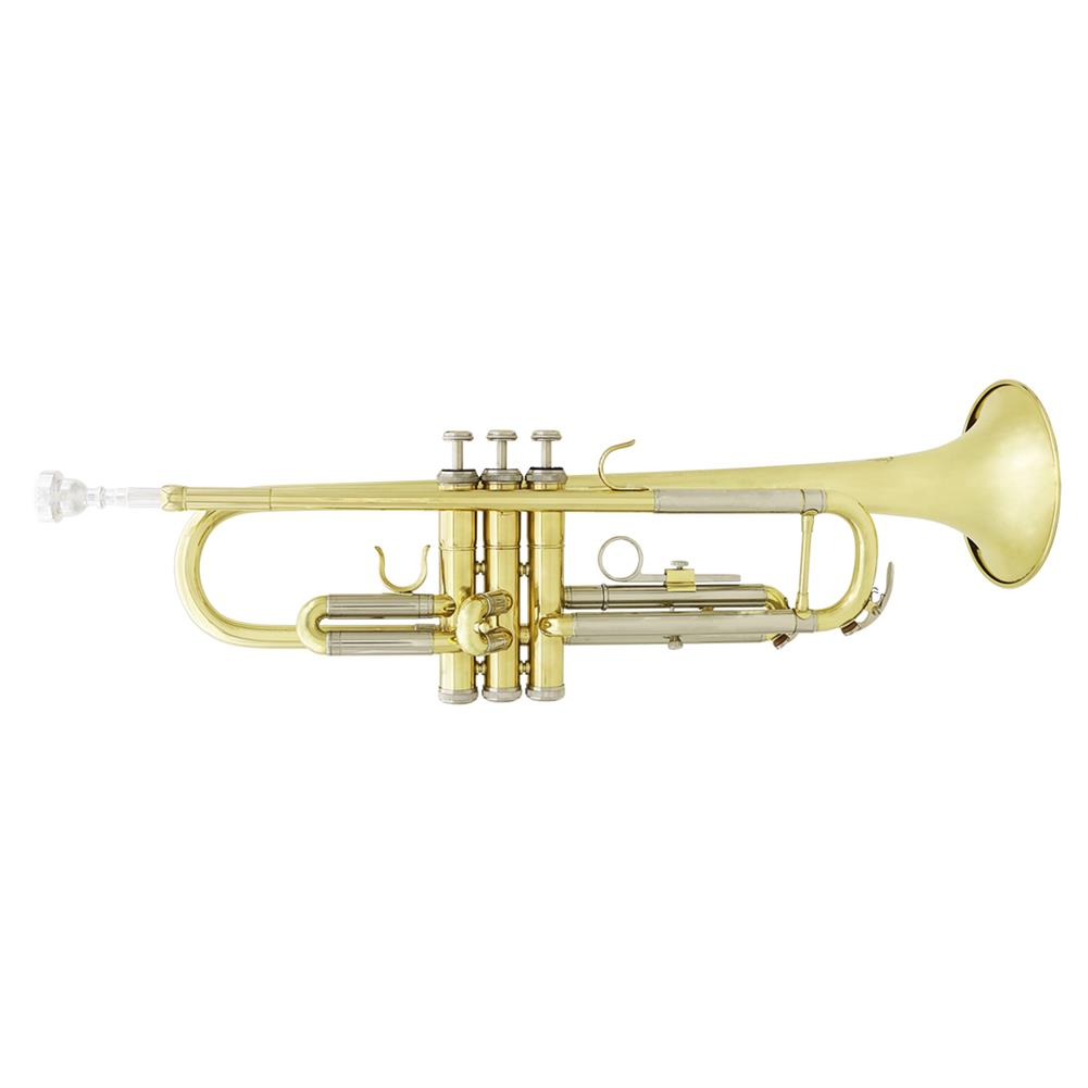 trumpet Slade Brass B Flat White Copper Diaphonic Tube Gold and Silver 2 Color Trumpet HOB1784363 2