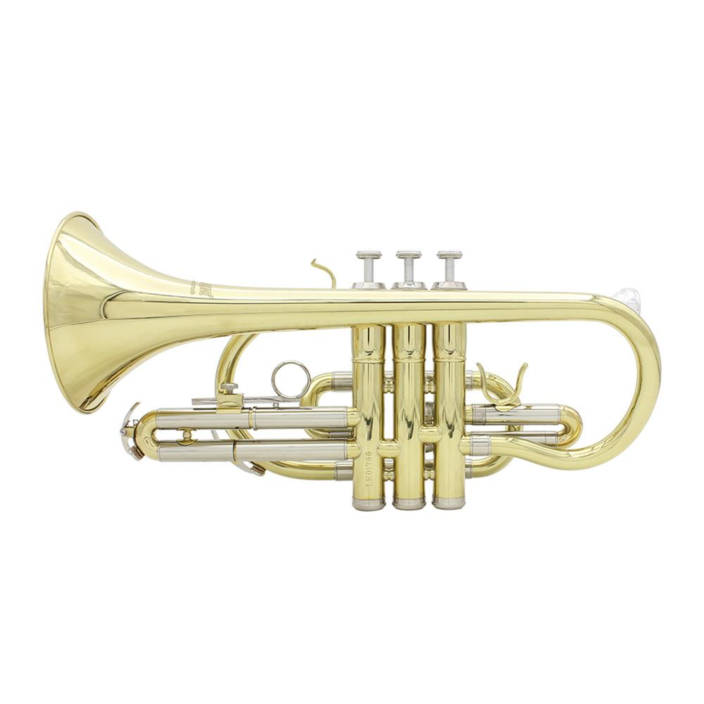 cornet SLADE Golden Silver Key Standing Cornet Brass Tube Cupronickel Diaphonic Tube Monel Piston HOB1784383 1