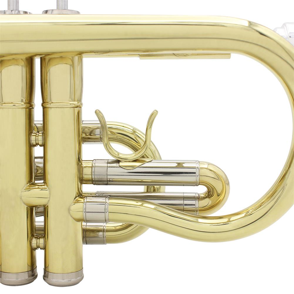 cornet SLADE Golden Silver Key Standing Cornet Brass Tube Cupronickel Diaphonic Tube Monel Piston HOB1784383 2