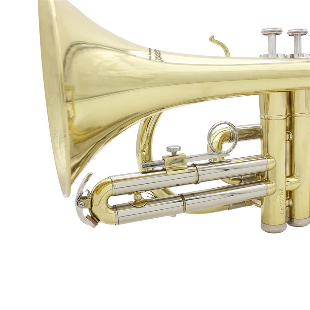 cornet SLADE Golden Silver Key Standing Cornet Brass Tube Cupronickel Diaphonic Tube Monel Piston HOB1784383 3