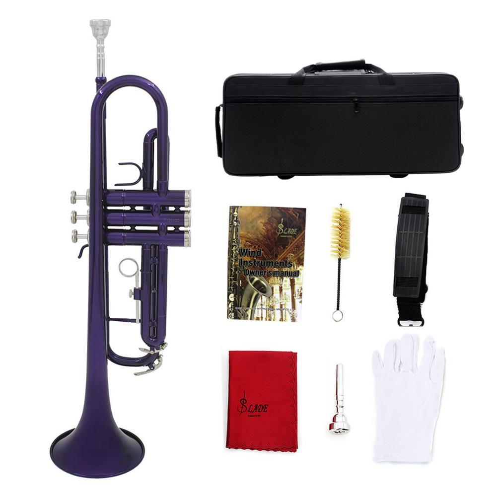 trumpet SLADE Brass B Flat Color Trumpet Musical instrument HOB1784406