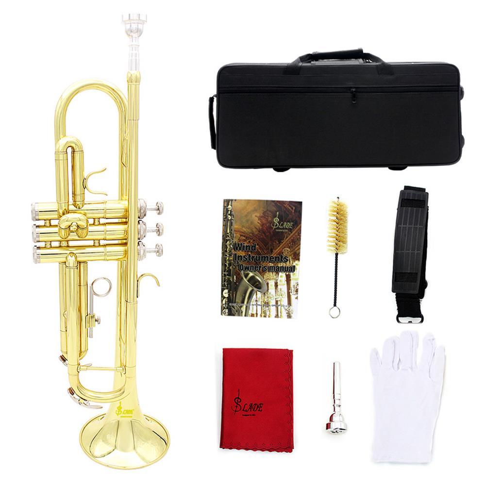 trumpet Slade Brass B Flat Gold Plated Silver Trumpet Musical instrument HOB1784462
