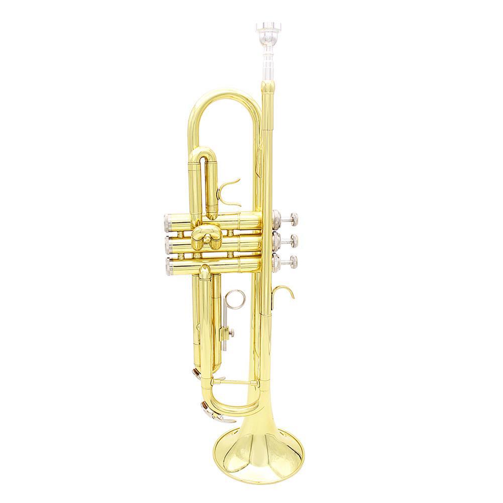 trumpet Slade Brass B Flat Gold Plated Silver Trumpet Musical instrument HOB1784462 1