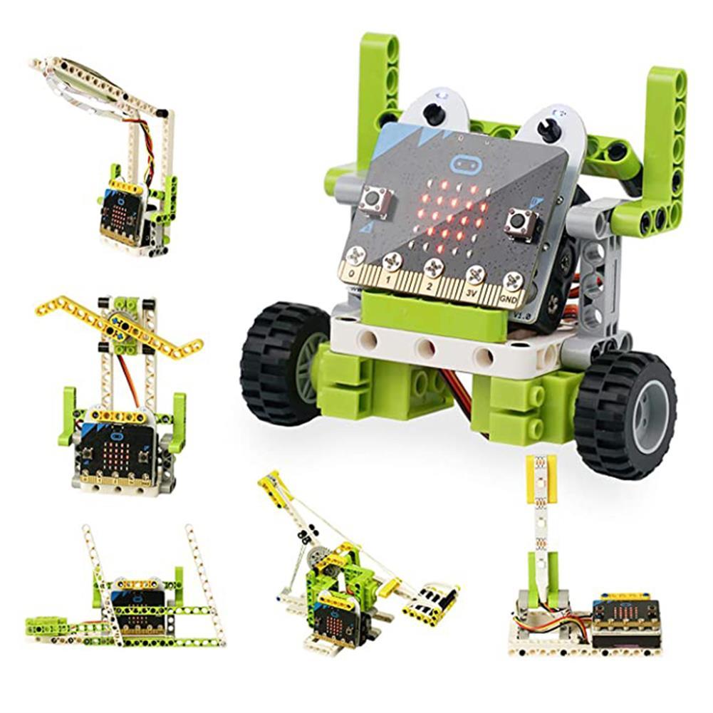 smart-robot ElecFreaks Microbit Children Programming Electronic Building Blocks 6 in 1 Kit RC Smart Robot HOB1784626
