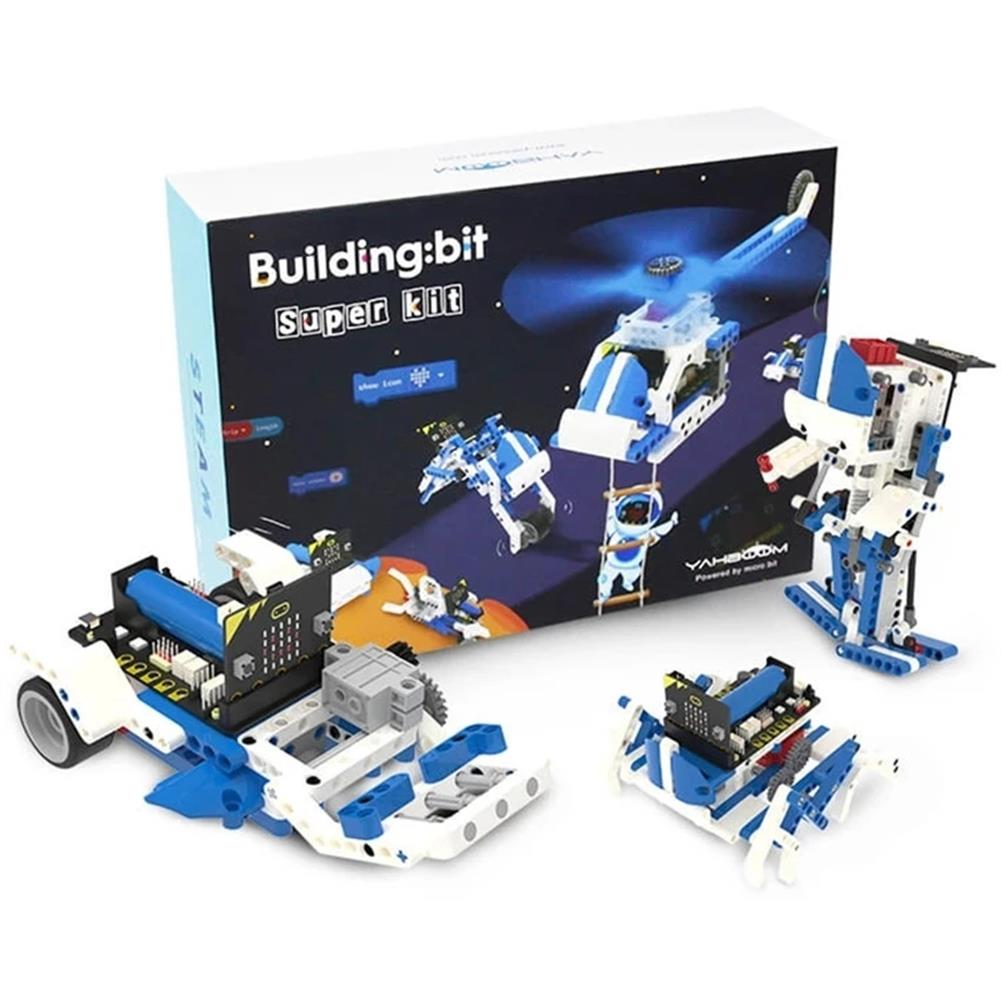 smart-robot Yahboom intelligent Microbit Programmable Building Block Robot Kit Python Graphic Assembly Educational RC Robot HOB1784629