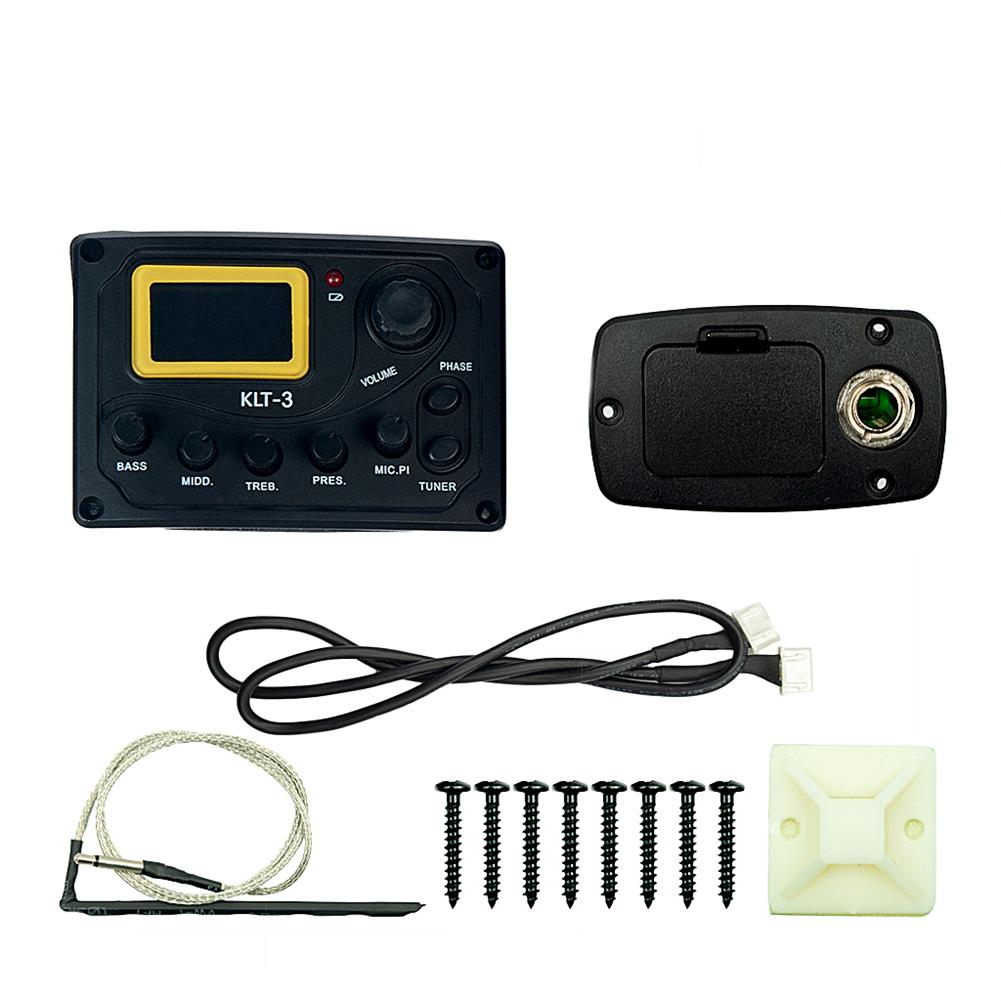 guitar-accessories NAOMI KLT-3 4 Band Guitar Equalizer with Digital Processing Tuner HOB1784640