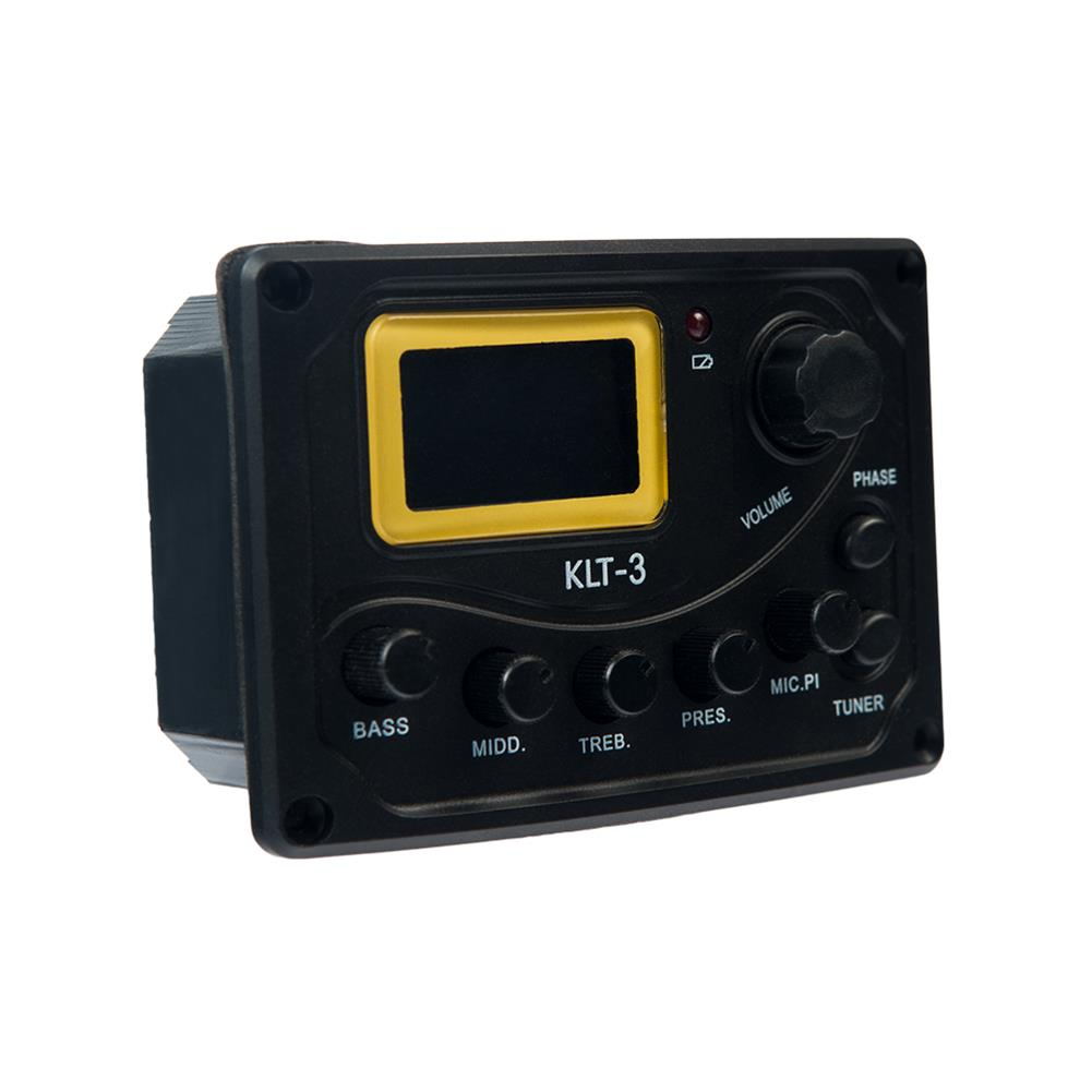 guitar-accessories NAOMI KLT-3 4 Band Guitar Equalizer with Digital Processing Tuner HOB1784640 1
