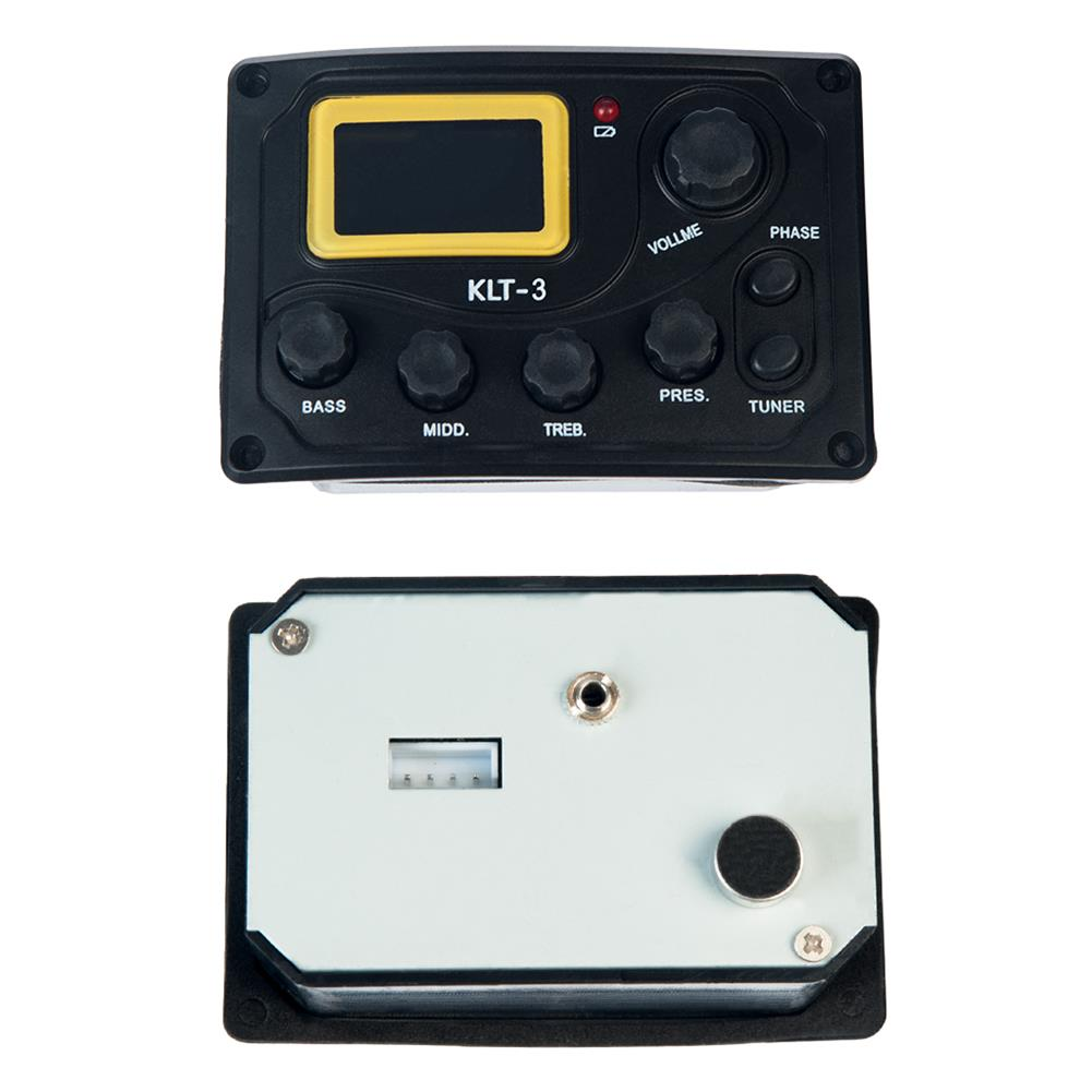 guitar-accessories NAOMI KLT-3 4 Band Guitar Equalizer with Digital Processing Tuner HOB1784640 2