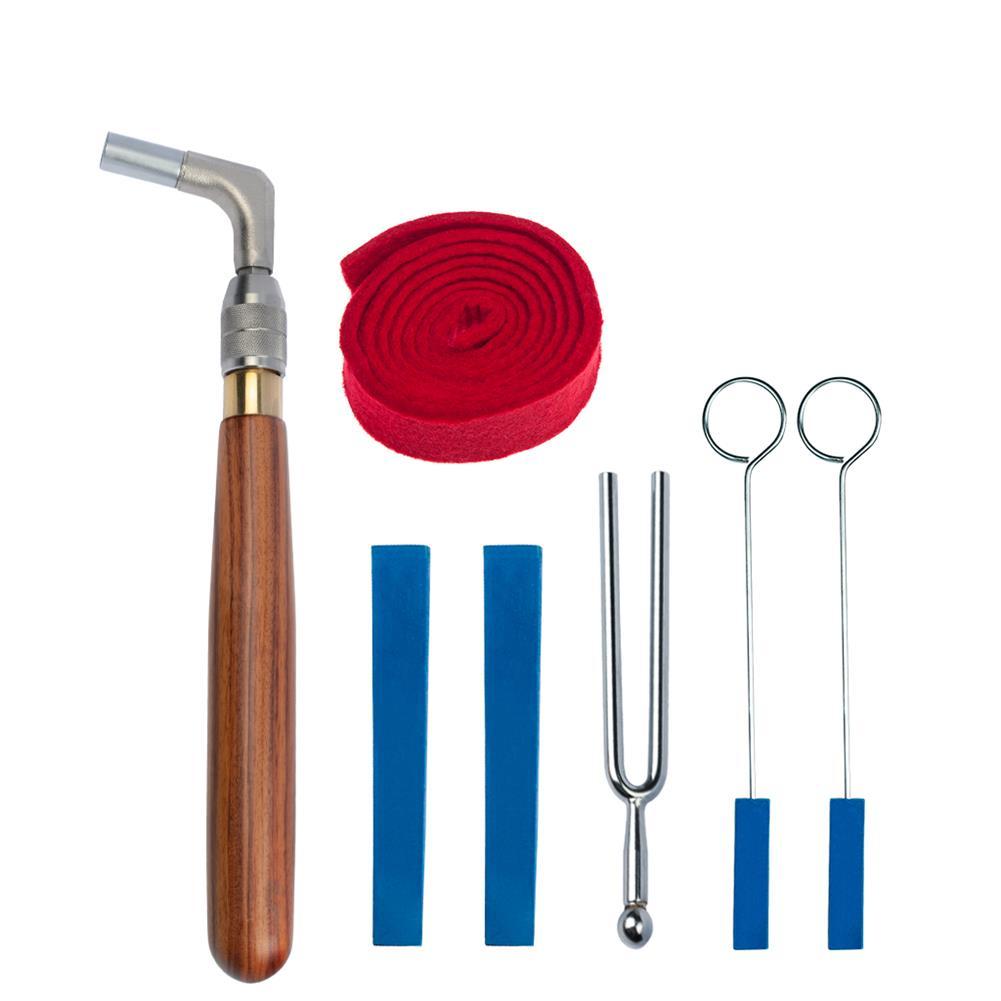 keyboard-accessories NAOMI Professional Piano Tuning Tool Kit Mahogany Handle Telescopic Octagonal Hammer Rubber Wedge Mute HOB1784648 2
