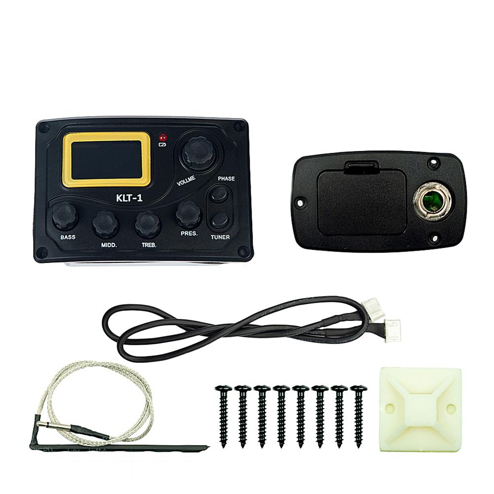 guitar-accessories NAOMI KLT-1 4 Band Guitar Equalizer with Digital Processing Tuner HOB1784660