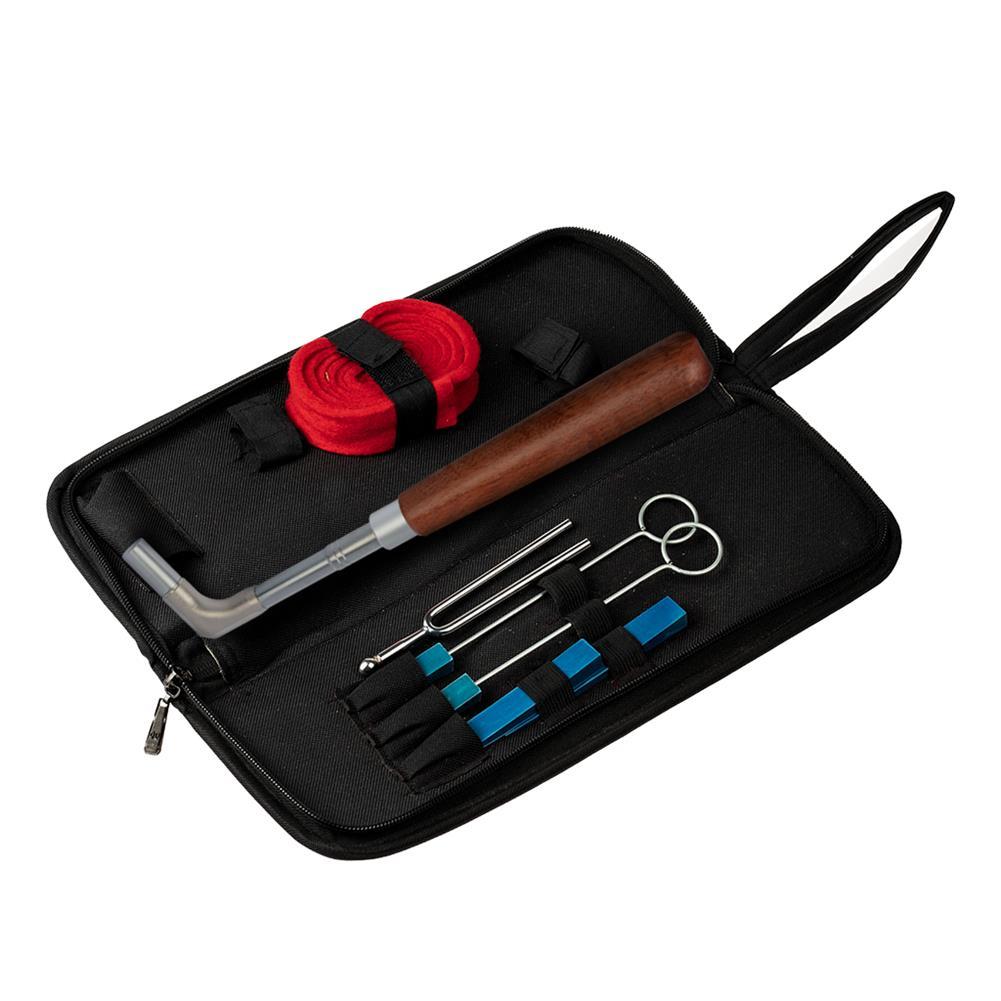 keyboard-accessories NAOMI Professional Piano Tuning Tool Kit Mahogany Handle Straight rod Octagonal Hammer Rubber Wedge Mute HOB1784664 1