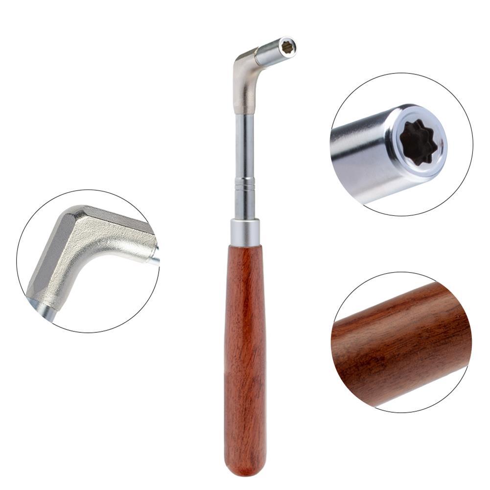 keyboard-accessories NAOMI Professional Piano Tuning Tool Kit Mahogany Handle Straight rod Octagonal Hammer Rubber Wedge Mute HOB1784664 3