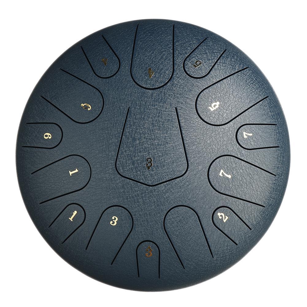 steel-drums 12 inch Steel Tongue Drum Handpan Hand Drums Major 15 Notes Tankdrum + Mallets Bag HOB1784808