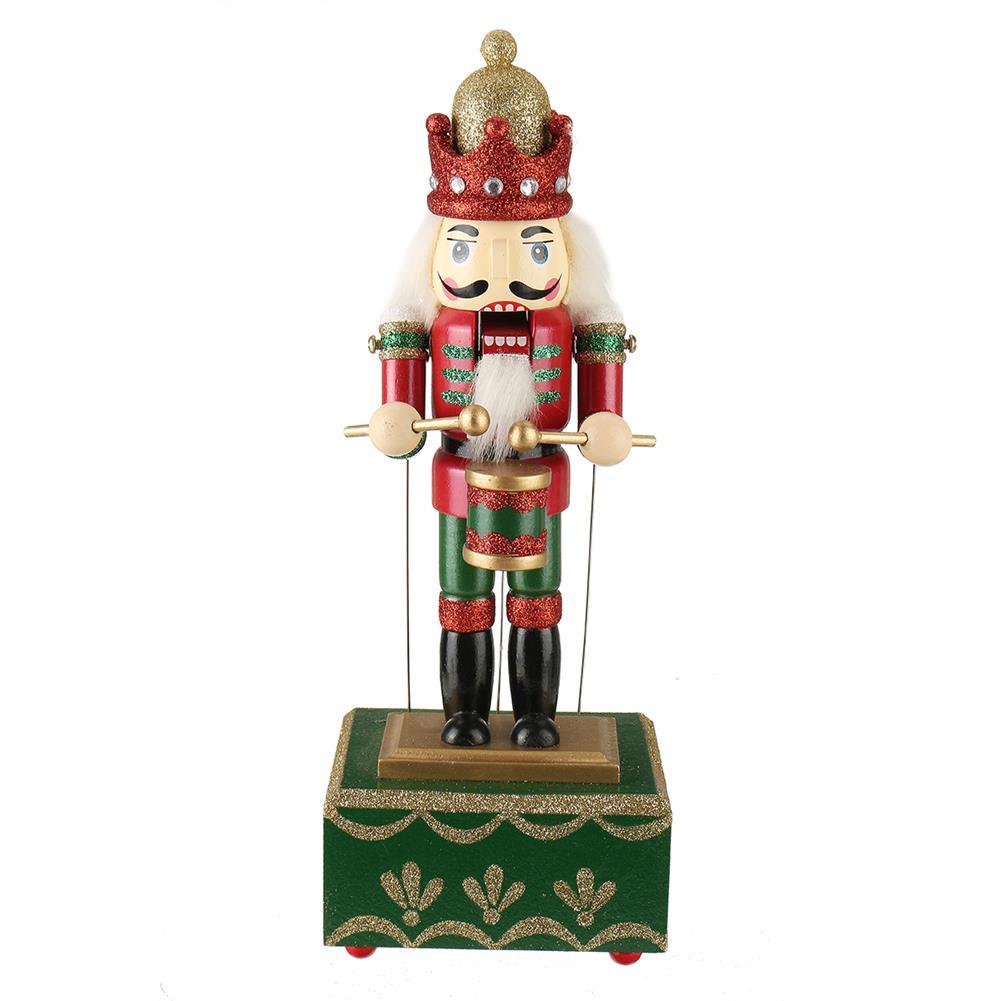 music-box Large Wooden Guard Nutcracker Soldier Toys Music Box Xmas Christmas Gift Decor HOB1785321 1