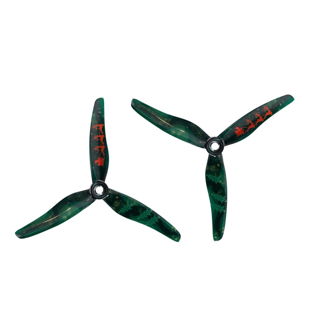 multi-rotor-parts 10 Pairs Gemfan Christmas Prop Hurrican 51433 5.1 inch 3-Blade Xmas Propeller M5 Hole for Freestyle RC Drone FPV Racing HOB1785762 2