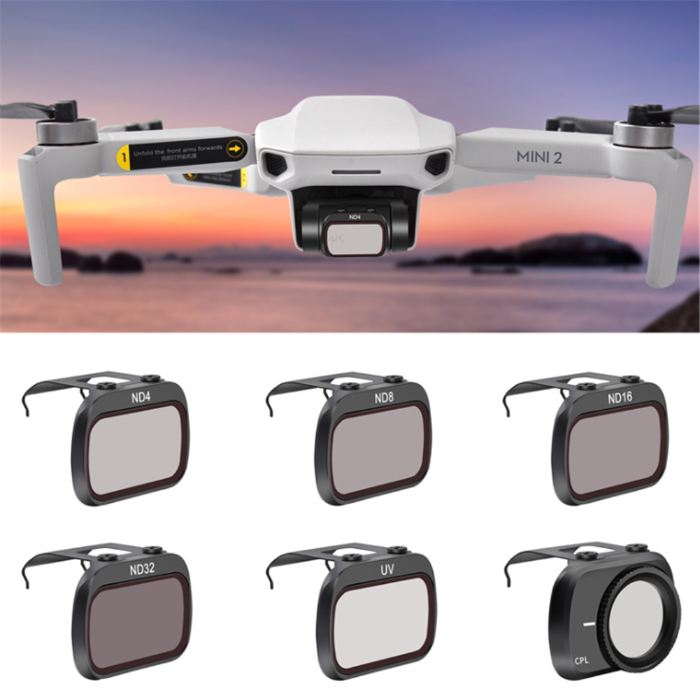 rc-quadcopter-parts STARTRC ND4/ND8/ND16/ND32/CPL/MCUV/ND4PL/ ND8PL/ ND16PL/ ND32PL Filter Set Lens Filter for DJI Mini 2 RC Drone HOB1786085