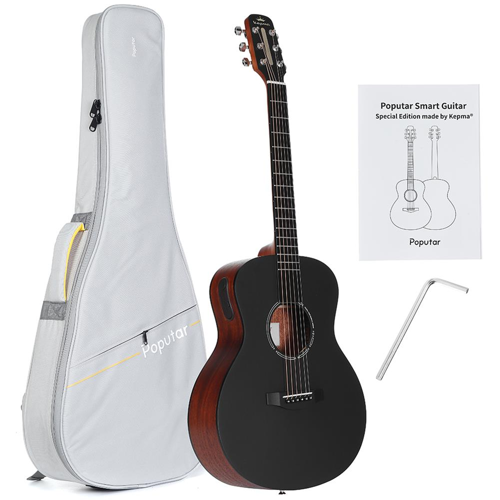 acoustic-guitars Poputar T1 36 inch LED Smart Guitar Guitare App BT5.0 Spruce Mahogany Acoustic Guitar Guitarra Musical instruments with Bag HOB1788224