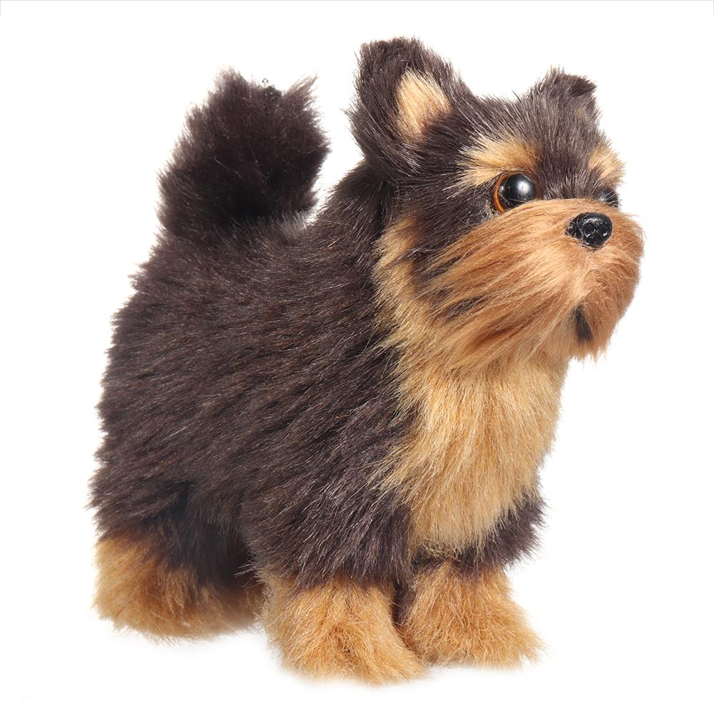 dolls-action-figure Yorkshires Terrier Realistic Simulation Plush Dog Lifelike Animal Dolls Toy for Home Decoration Collection Kids Gift HOB1788619