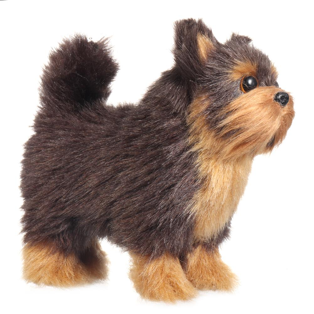 dolls-action-figure Yorkshires Terrier Realistic Simulation Plush Dog Lifelike Animal Dolls Toy for Home Decoration Collection Kids Gift HOB1788619 1