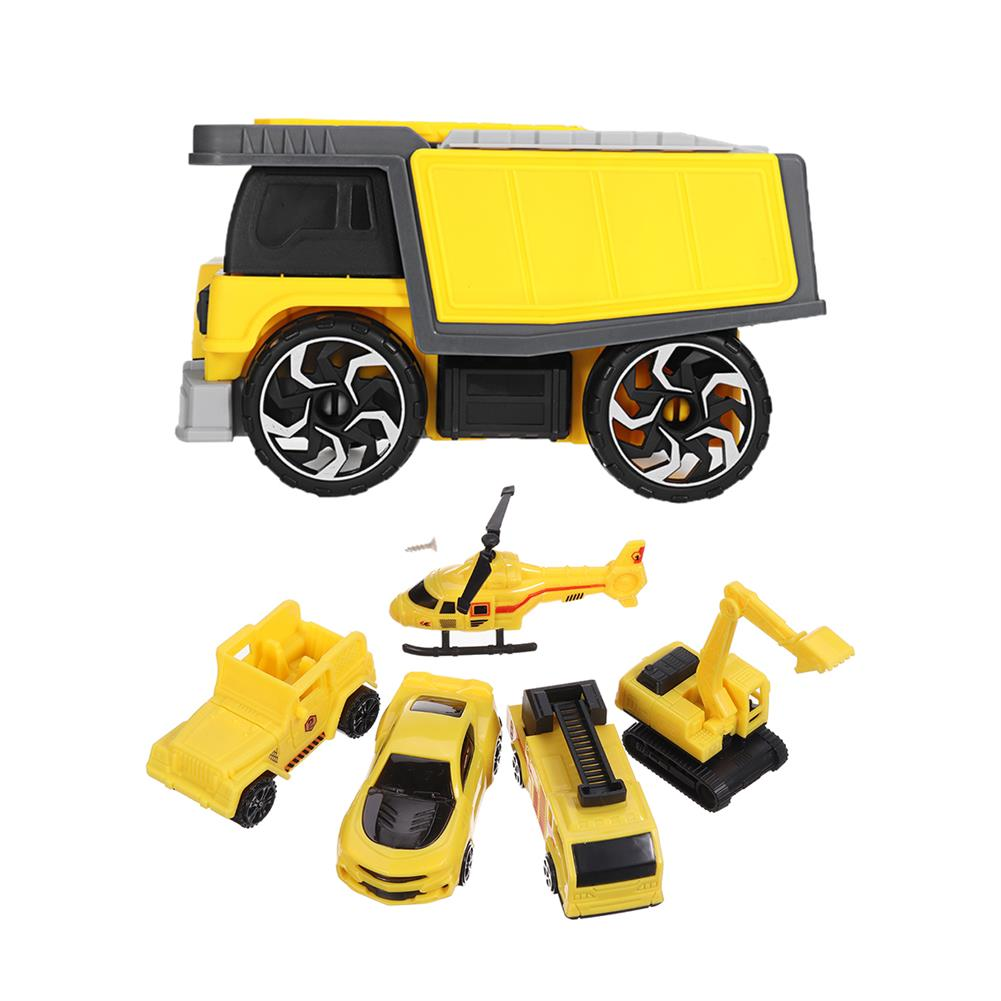 diecasts-model-toys Simulation inertia Deformation Track Engineering Vehicle Diecast Car Model Toy with Storage Parking Lot for Kids Birthdays Gift HOB1788624 1