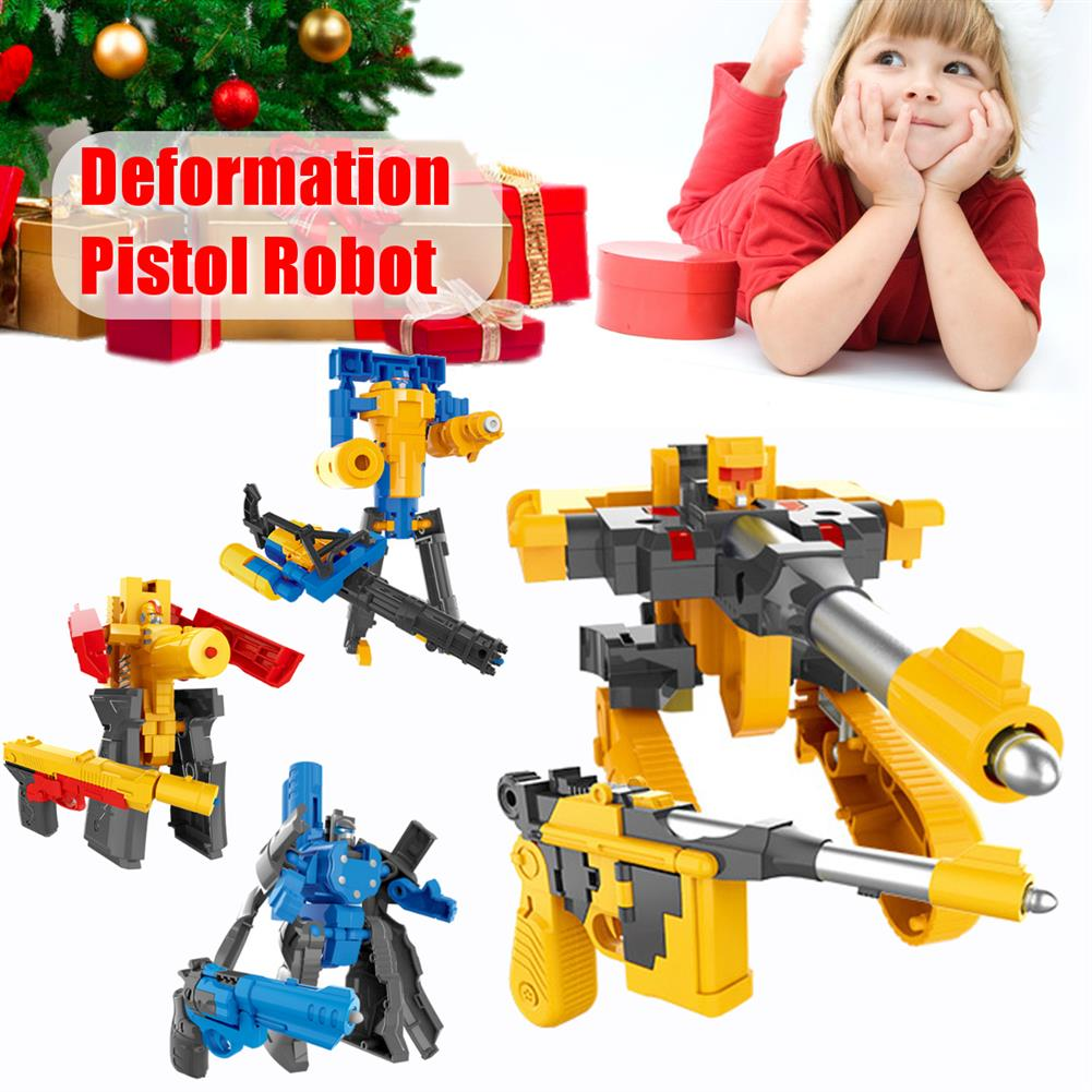 robot-toys Children's Deformation Pistol Robot Toy Puzzle DIY Assembly Toy Christmas Gift HOB1789617 1