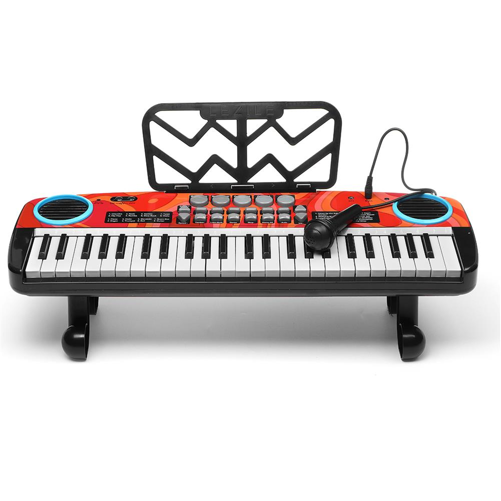 electronic-keyboards Musical 49 Keys Electronic Keyboard Digital Piano LED Screen w/ Microphone HOB1791085