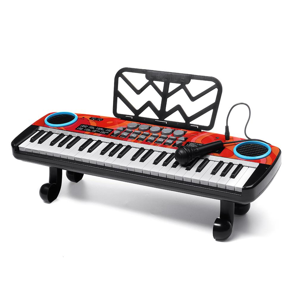 electronic-keyboards Musical 49 Keys Electronic Keyboard Digital Piano LED Screen w/ Microphone HOB1791085 1