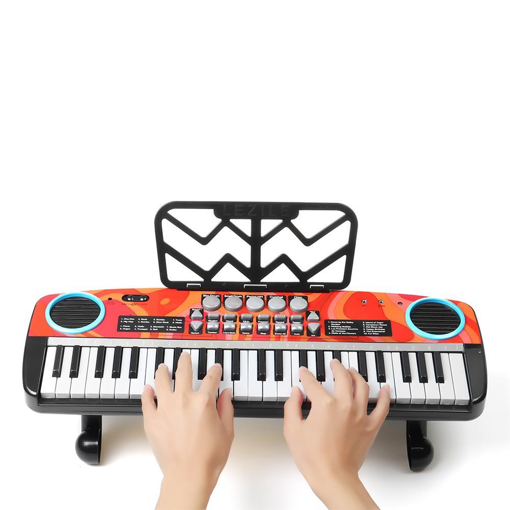 electronic-keyboards Musical 49 Keys Electronic Keyboard Digital Piano LED Screen w/ Microphone HOB1791085 2