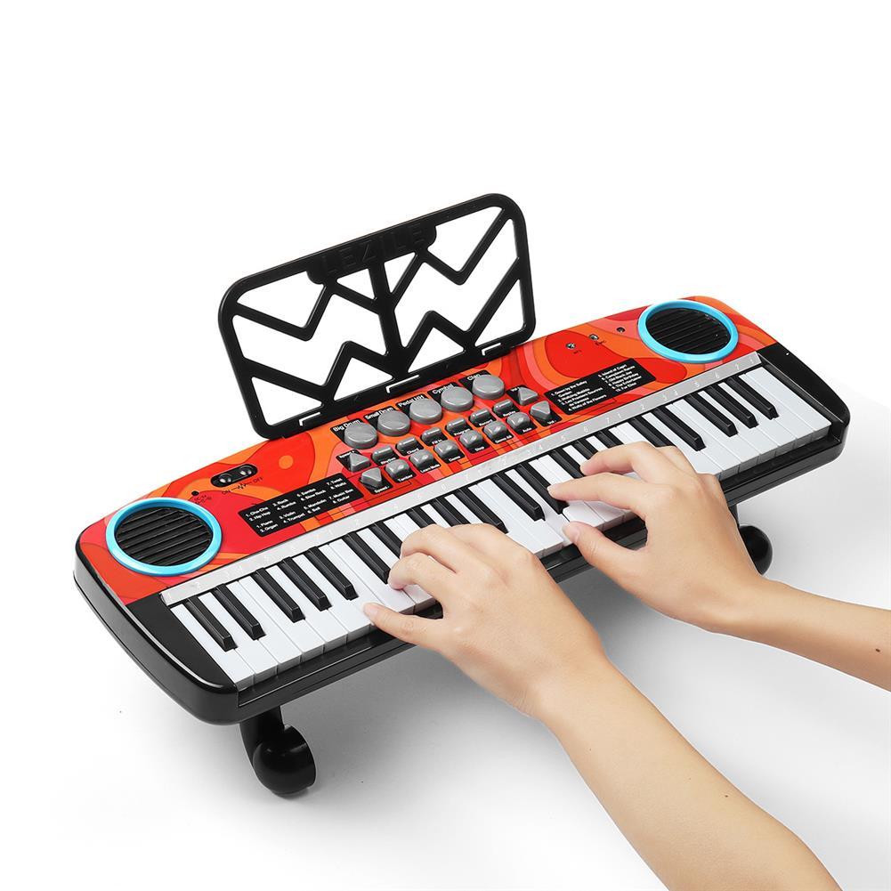electronic-keyboards Musical 49 Keys Electronic Keyboard Digital Piano LED Screen w/ Microphone HOB1791085 3