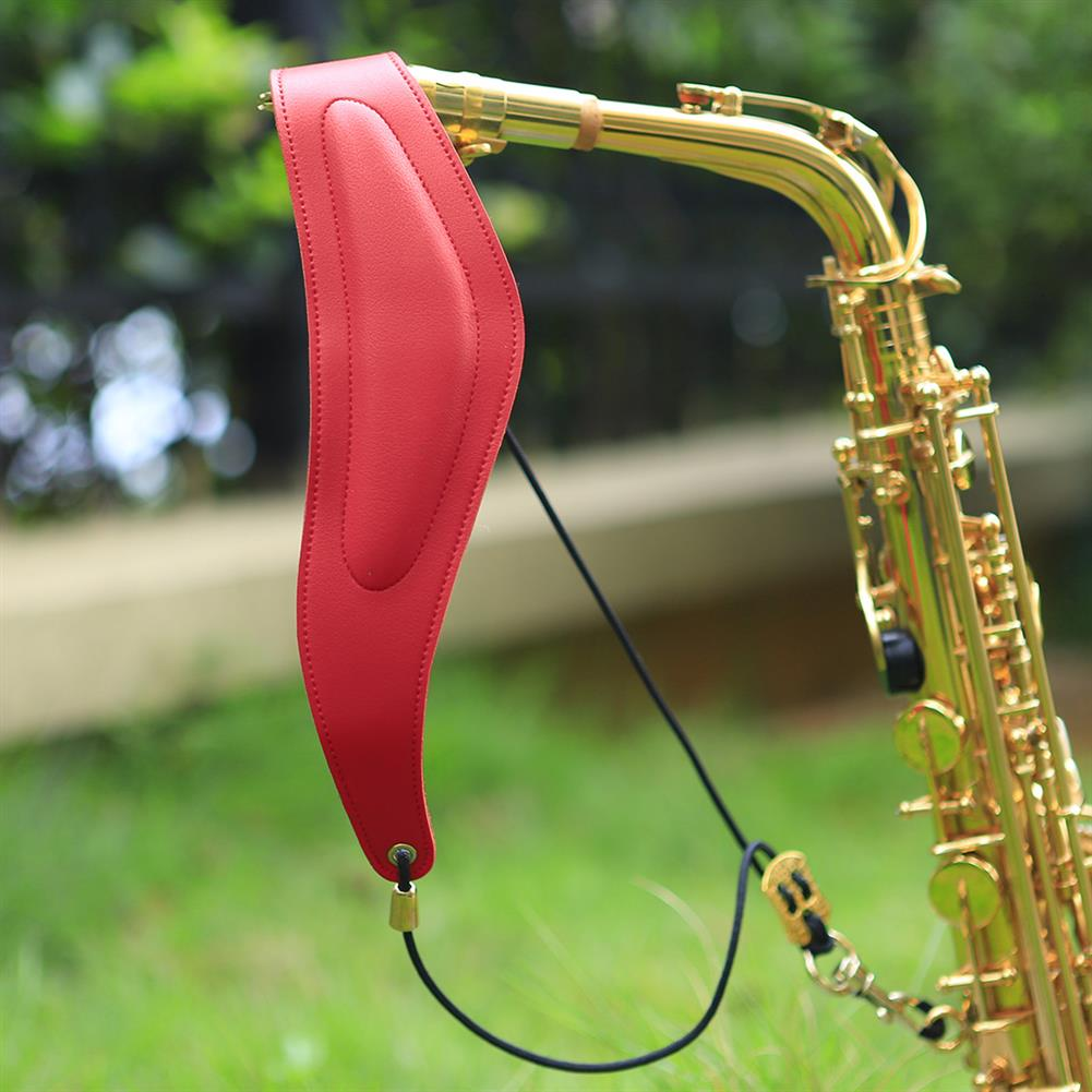woodwind-brass-accessories F-75 Saxophone Plus Cotton Leather Shoulder Strap Neck Strap Lanyard Sling HOB1791111 3
