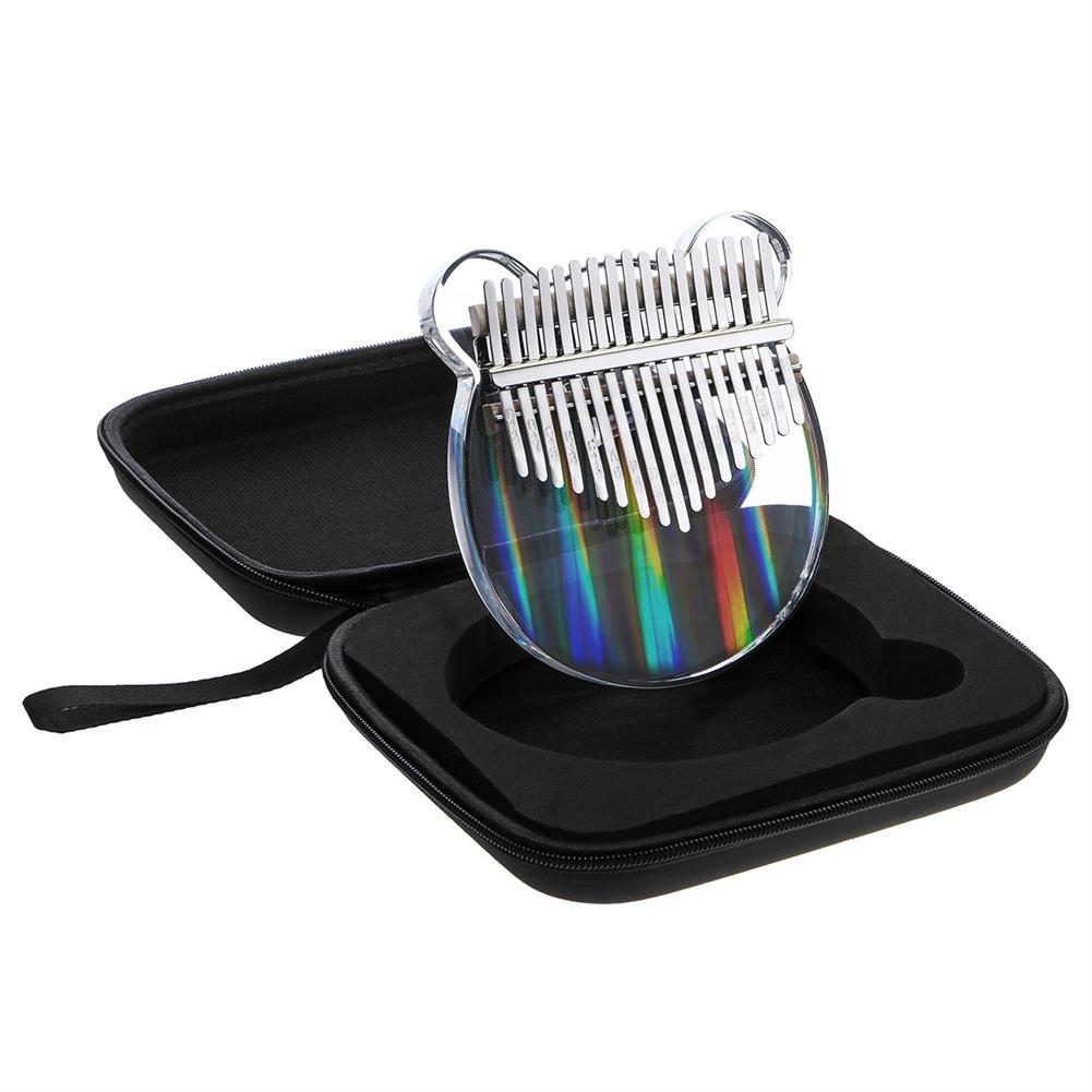 kalimba TUNYIN 17 Tone Kalimba Rainbow Crystal Transparent Thumb Piano 5 Styles HOB1791137