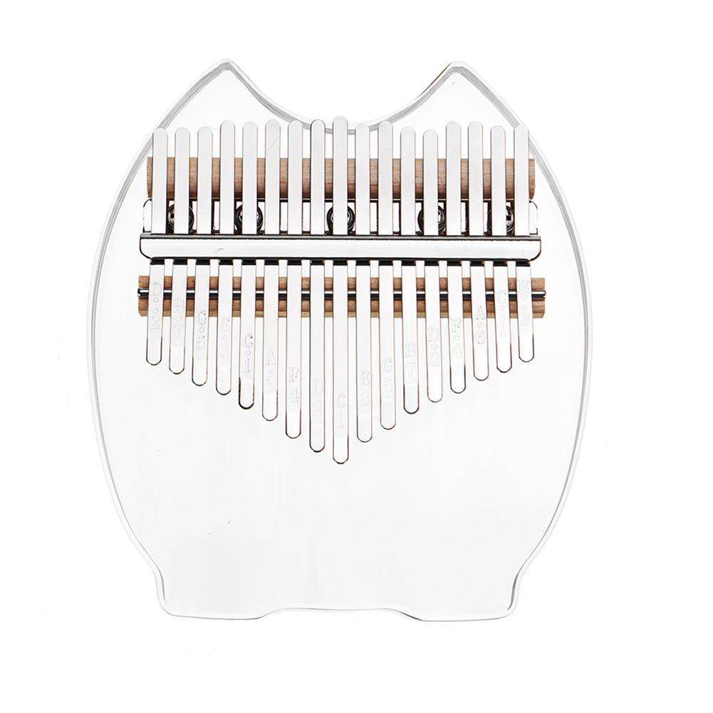 kalimba TUNYIN 17 Tone Kalimba Rainbow Crystal Transparent Thumb Piano 5 Styles HOB1791137 1