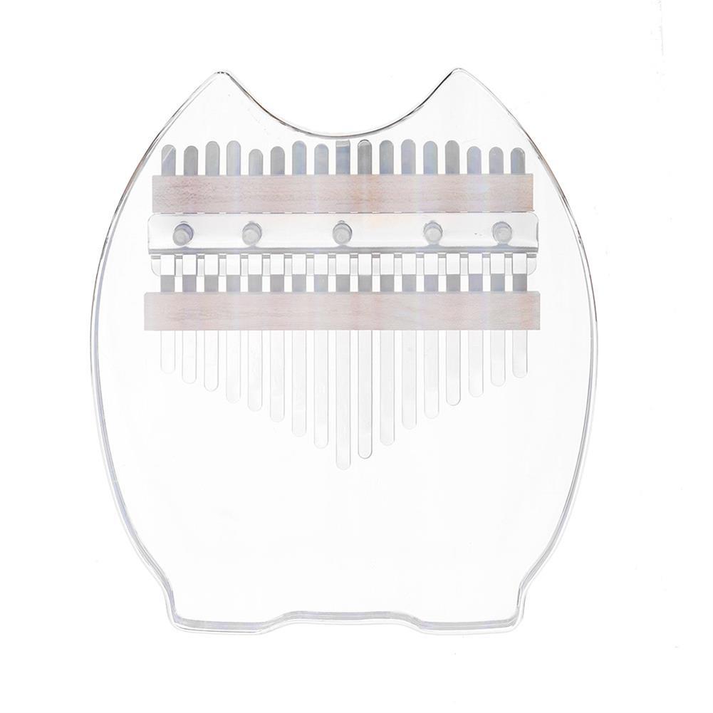 kalimba TUNYIN 17 Tone Kalimba Rainbow Crystal Transparent Thumb Piano 5 Styles HOB1791137 2