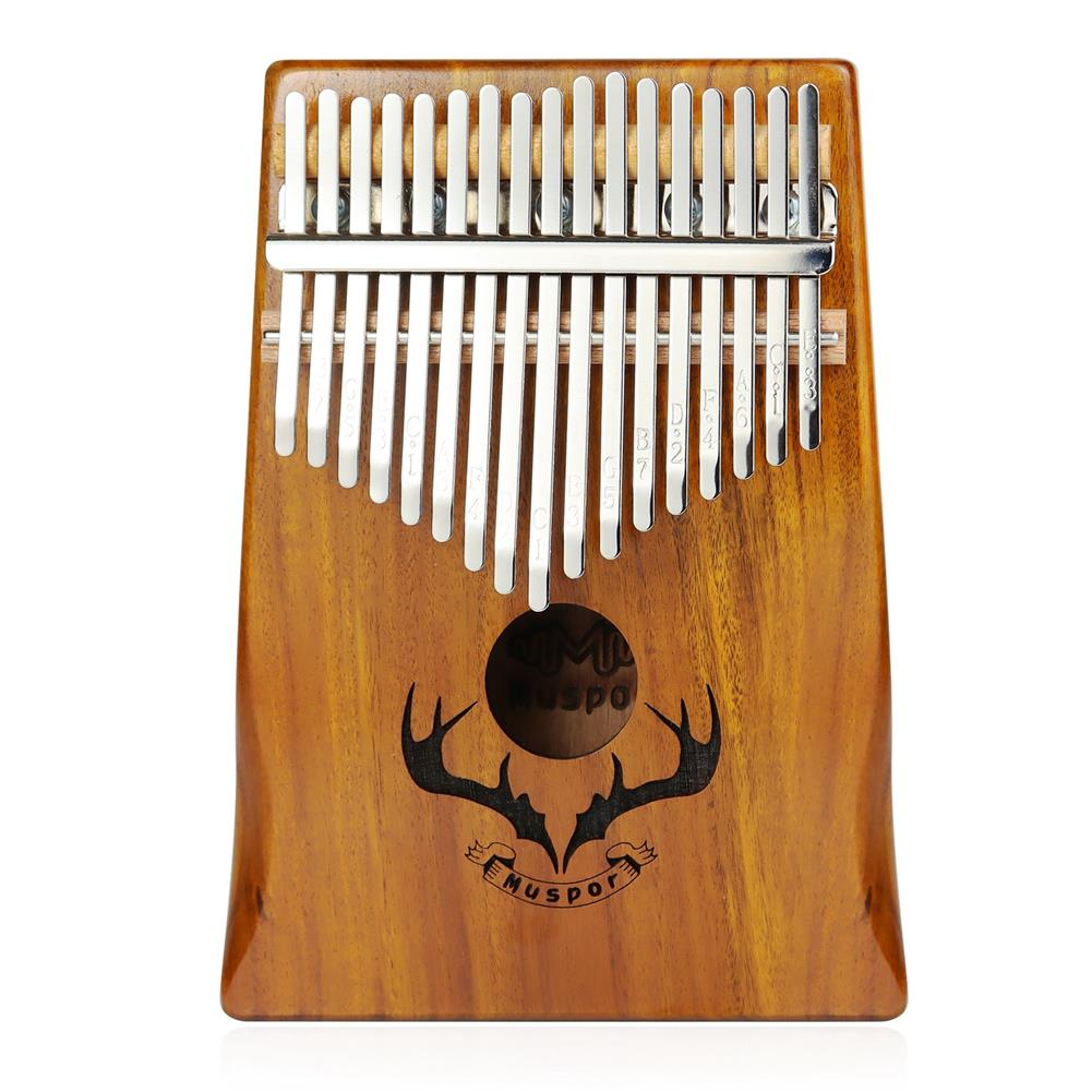 kalimba Muspor 17 Key Kalimba Acacia Wood Reindeer Horn Thumb Piano with Performance Protection Bag for Beginner HOB1791151