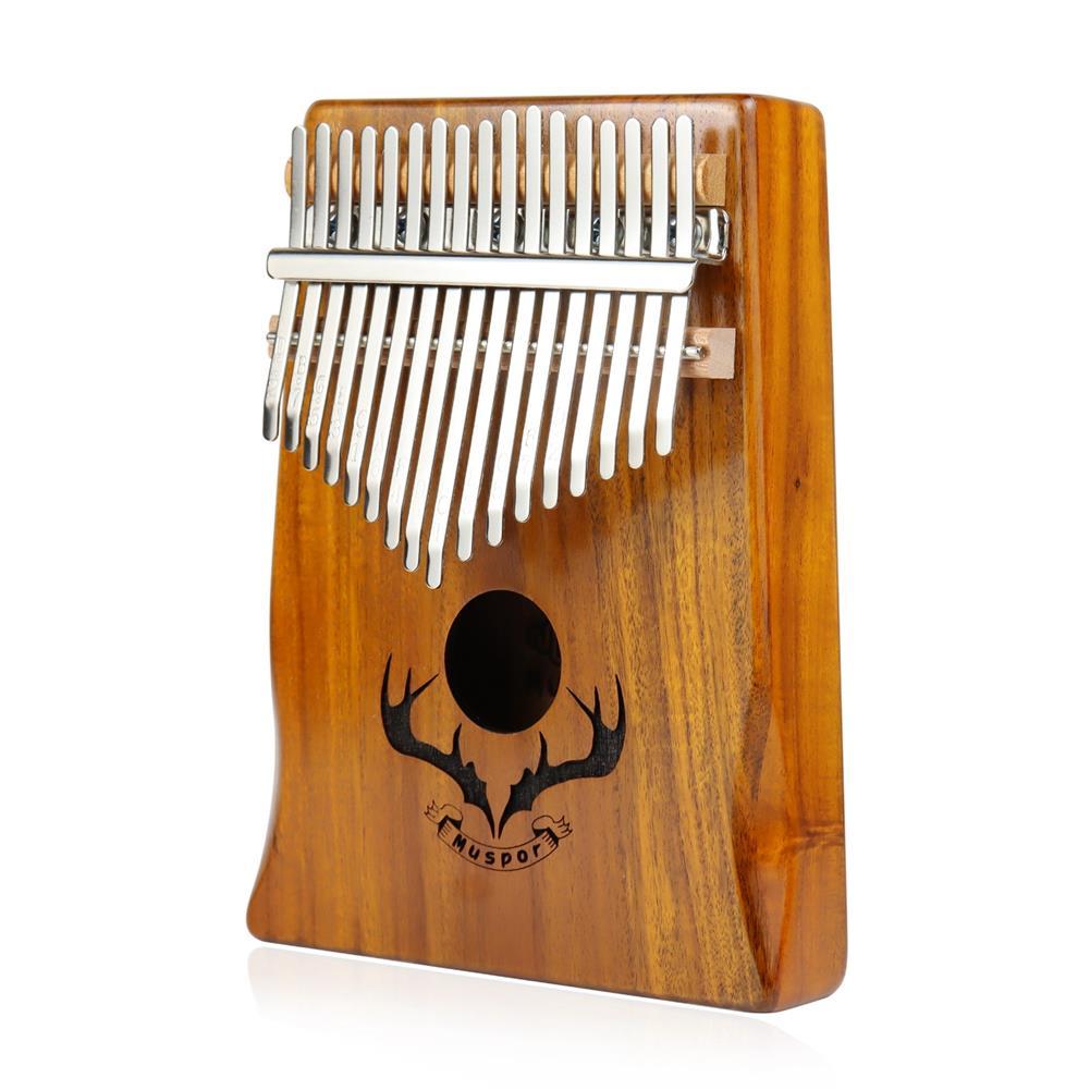 kalimba Muspor 17 Key Kalimba Acacia Wood Reindeer Horn Thumb Piano with Performance Protection Bag for Beginner HOB1791151 1