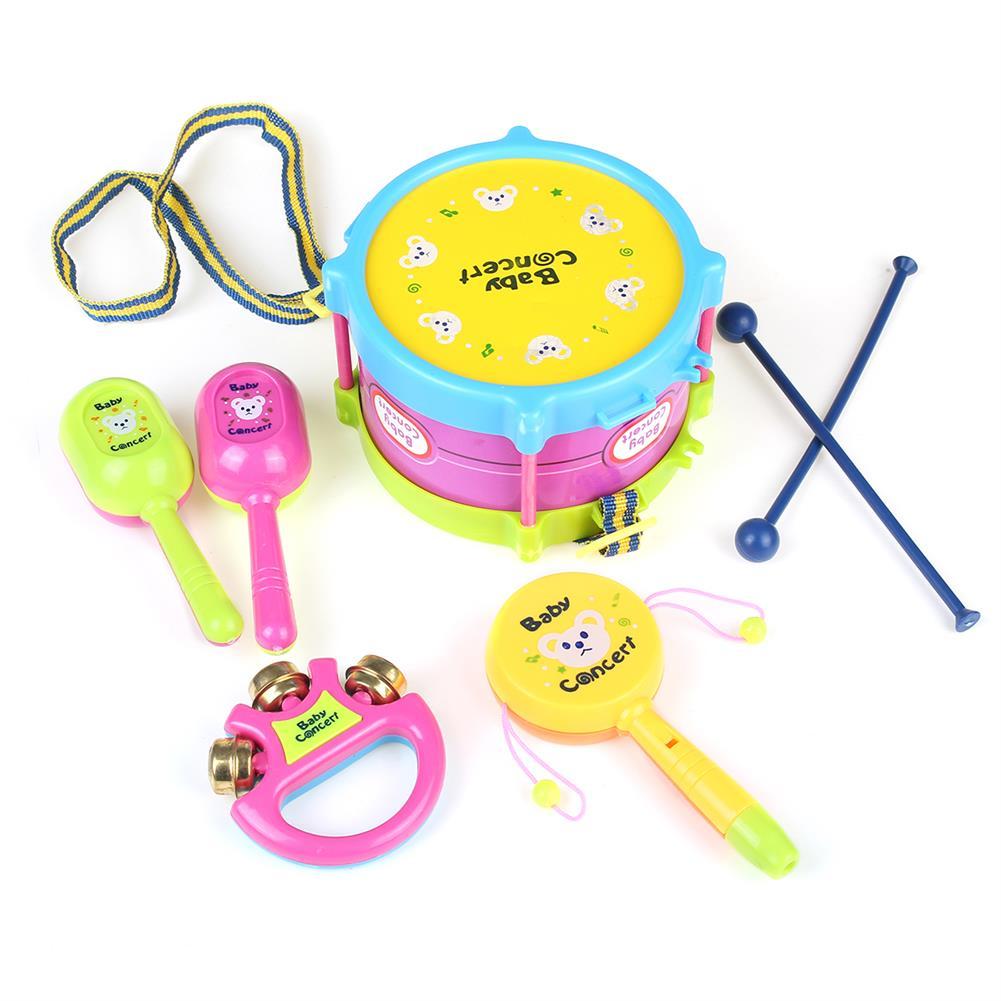 orff-instruments 5pcs/Set Baby Boy Girl Drum Musical instruments Kids Band Kit Children Gift Toys HOB1791153