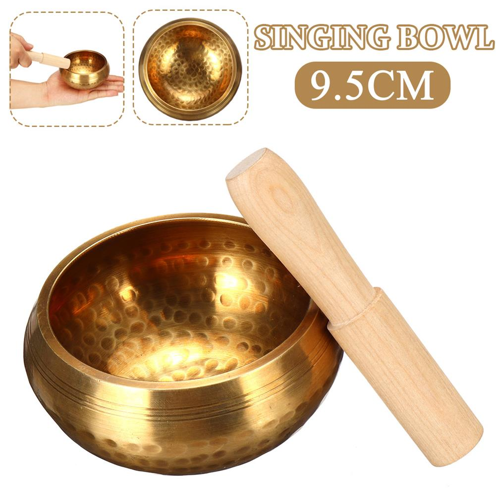 folk-world-percussion Copper Bowl Wood Hammer Yoga Singing Buddhism Healing Chakra Meditation Supply HOB1791172