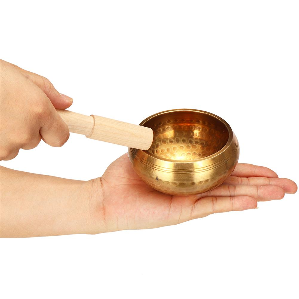 folk-world-percussion Copper Bowl Wood Hammer Yoga Singing Buddhism Healing Chakra Meditation Supply HOB1791172 1